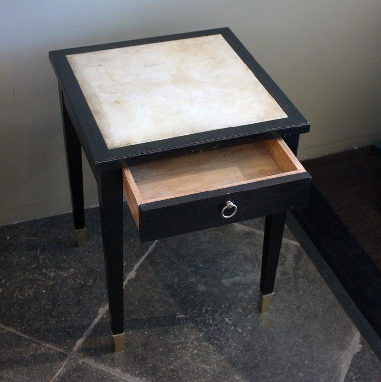 Jacques Adnet Parchment Side Tables, France, 1940 For Sale 1