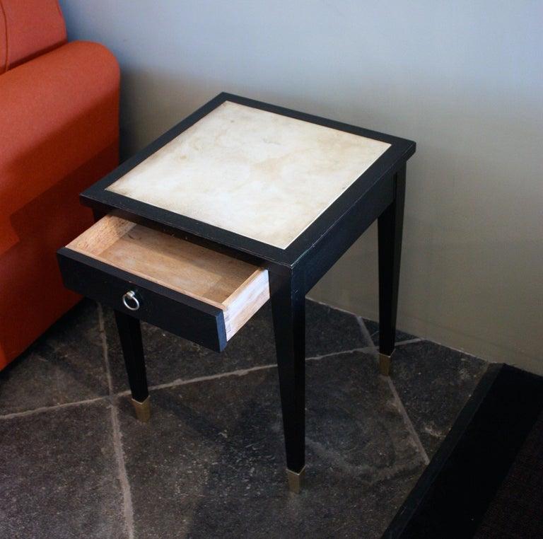 Jacques Adnet Parchment Side Tables, France, 1940 For Sale 2