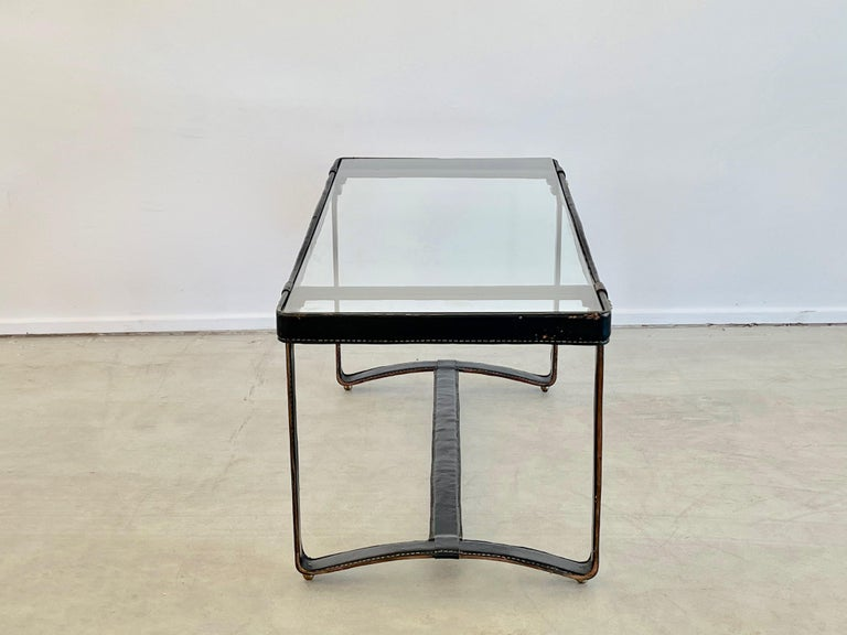 Jacques Adnet Rectangular Coffee Table In Good Condition For Sale In Los Angeles, CA