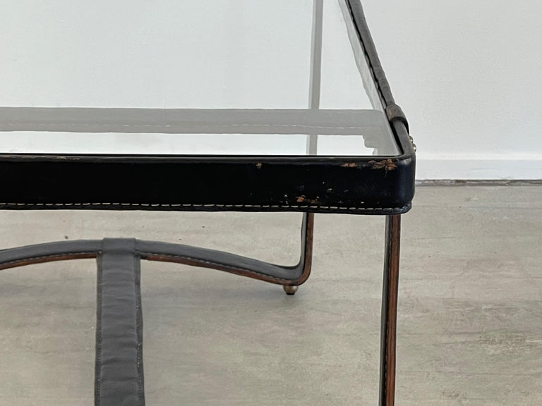 Mid-20th Century Jacques Adnet Rectangular Coffee Table For Sale