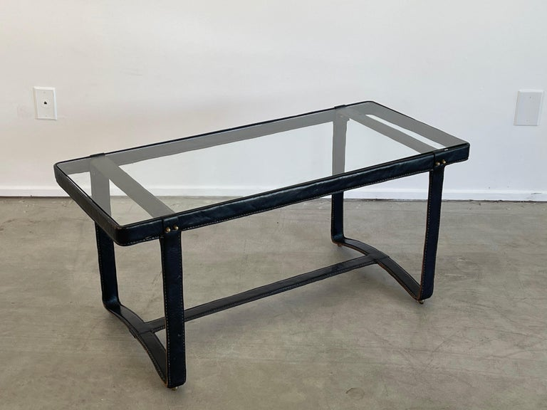 Jacques Adnet Rectangular Coffee Table For Sale 1