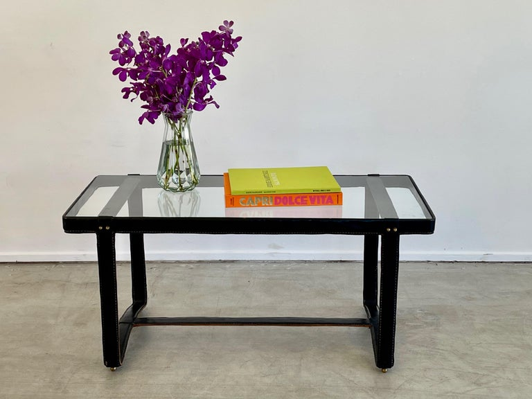 Jacques Adnet Rectangular Coffee Table For Sale 2