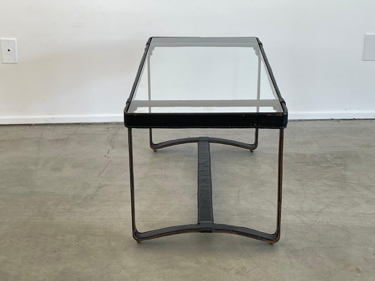 Jacques Adnet Rectangular Coffee Table For Sale 3