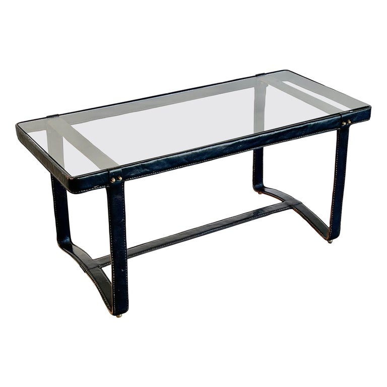 Jacques Adnet Rectangular Coffee Table For Sale