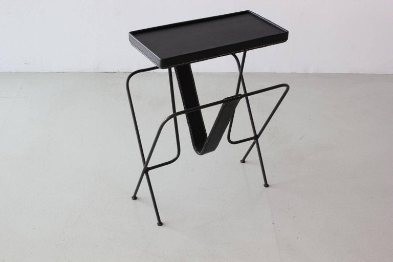 Jacques Adnet Side Table In Good Condition For Sale In Los Angeles, CA