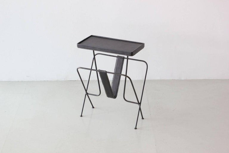Mid-20th Century Jacques Adnet Side Table For Sale