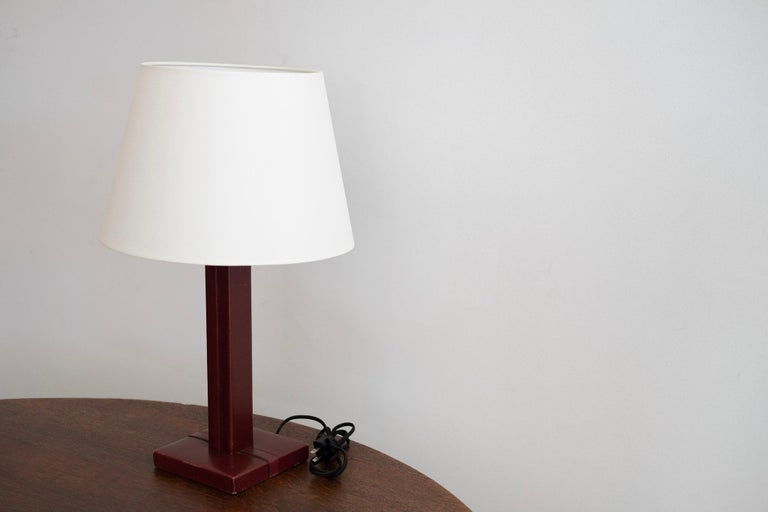 French Jacques Adnet Style Table Lamp For Sale