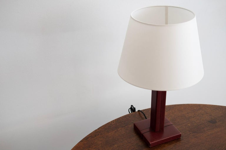 Jacques Adnet Style Table Lamp In Good Condition For Sale In Los Angeles, CA