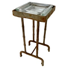 Jacques Adnet Suede Side Table