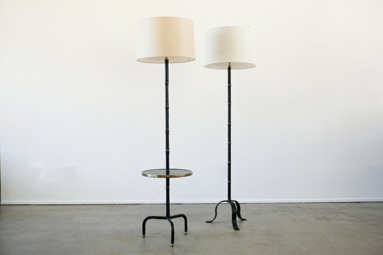 Mid-Century Modern Jacques Adnet Table Floor Lamp