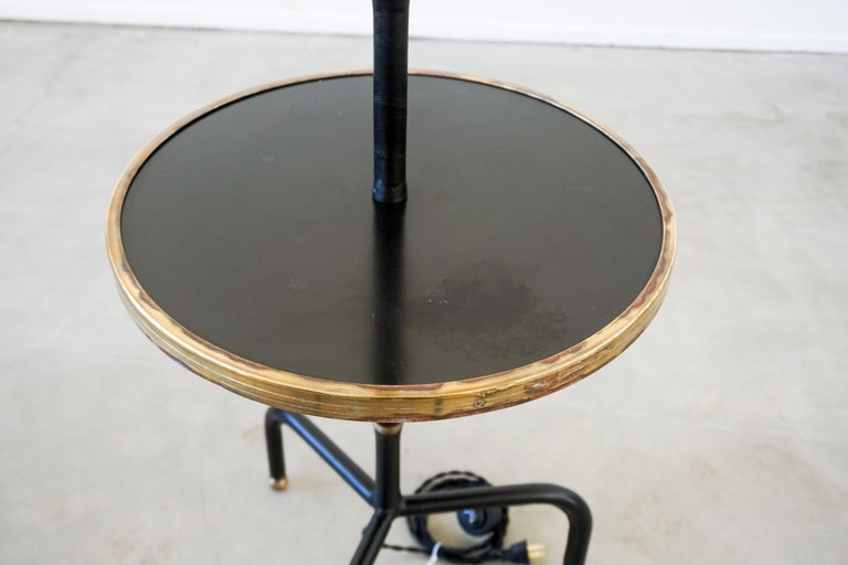 French Jacques Adnet Table Floor Lamp