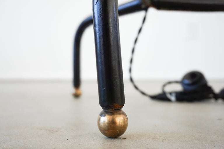 Mid-20th Century Jacques Adnet Table Floor Lamp