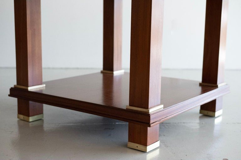 Mahogany Jacques Adnet Table For Sale