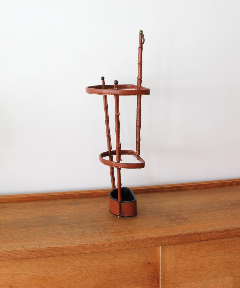 French Jacques Adnet Umbrella Stand For Sale