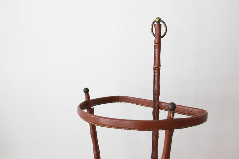 Jacques Adnet Umbrella Stand In Good Condition For Sale In Los Angeles, CA