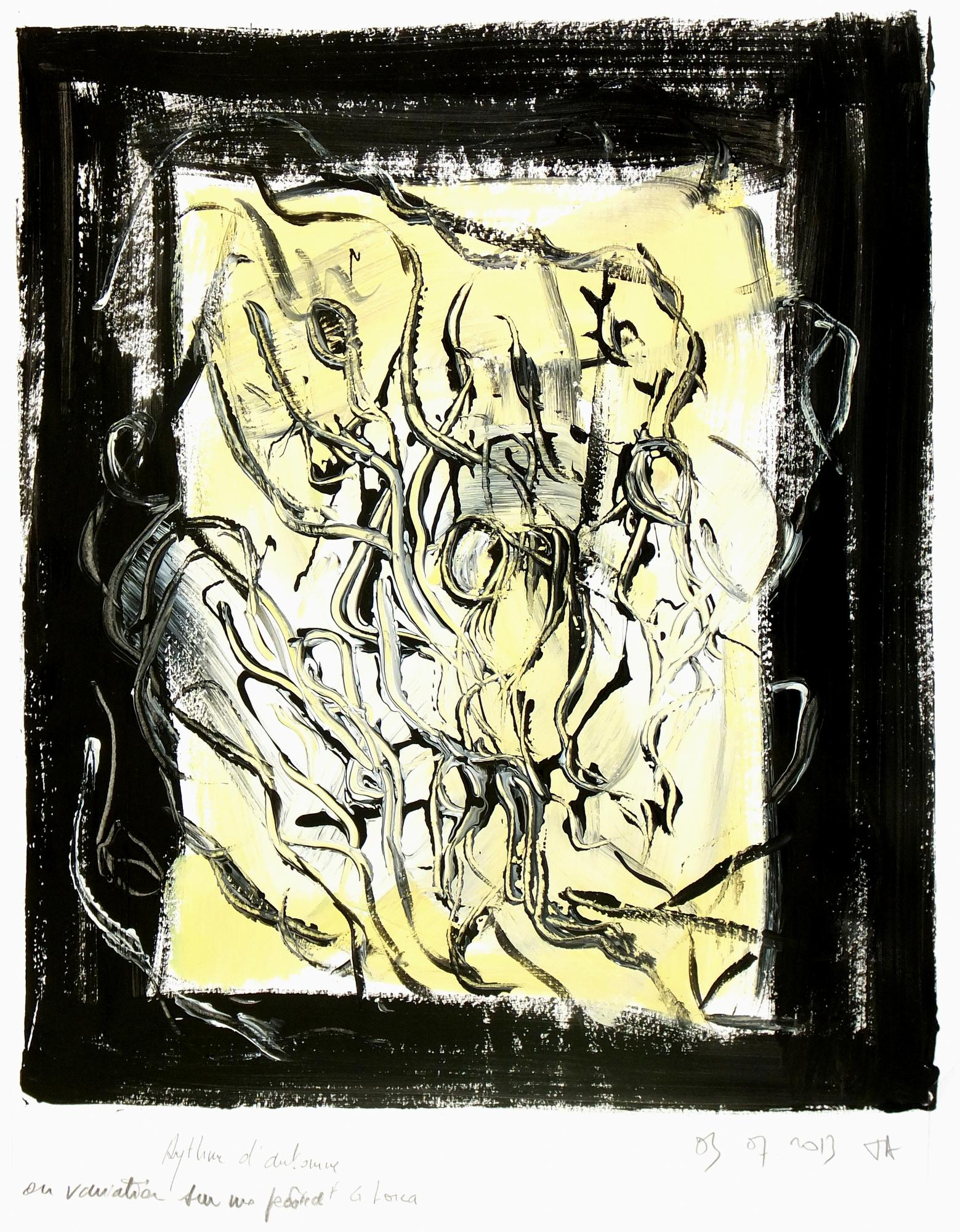 French Abstract Painting - Rythme d'Automne (Autumn Rhythm)