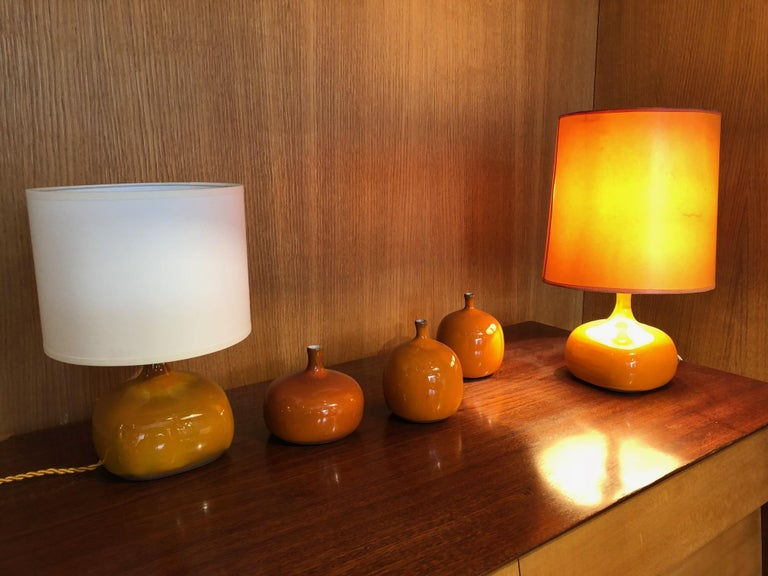 Mid-20th Century Jacques and Dani Ruelland French Ceramic Lamp For Sale