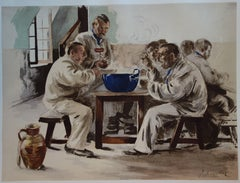 Sailor's supper  - Original lithograph - 1897