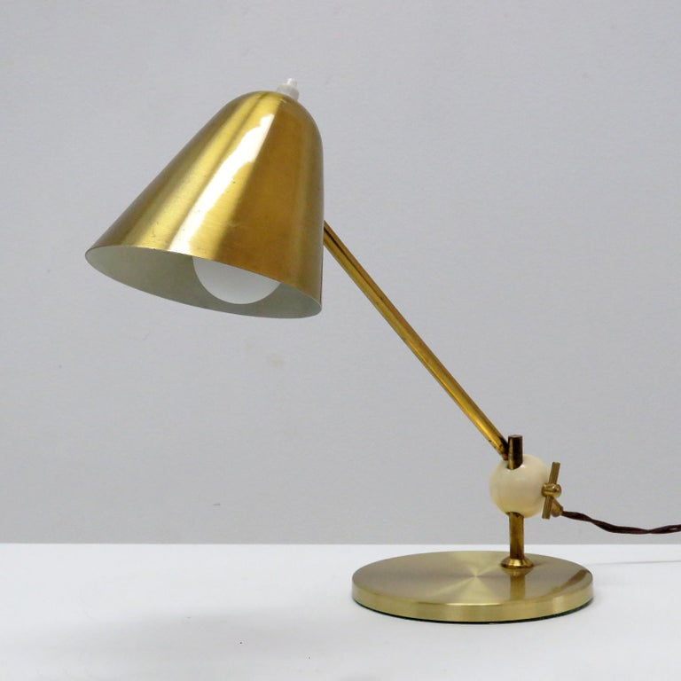 Mid-Century Modern Jacques Biny Table Lamp, 1950 For Sale