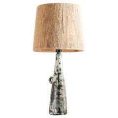 Jacques Blin Elegant Ceramic Table Lamp, 1950s