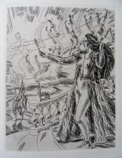 Mythological Beauty - Original etching, 1943