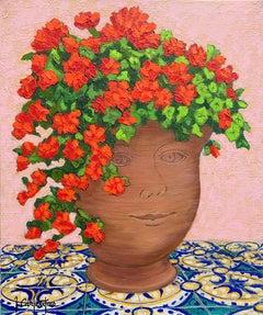 Happy Geranium Vase