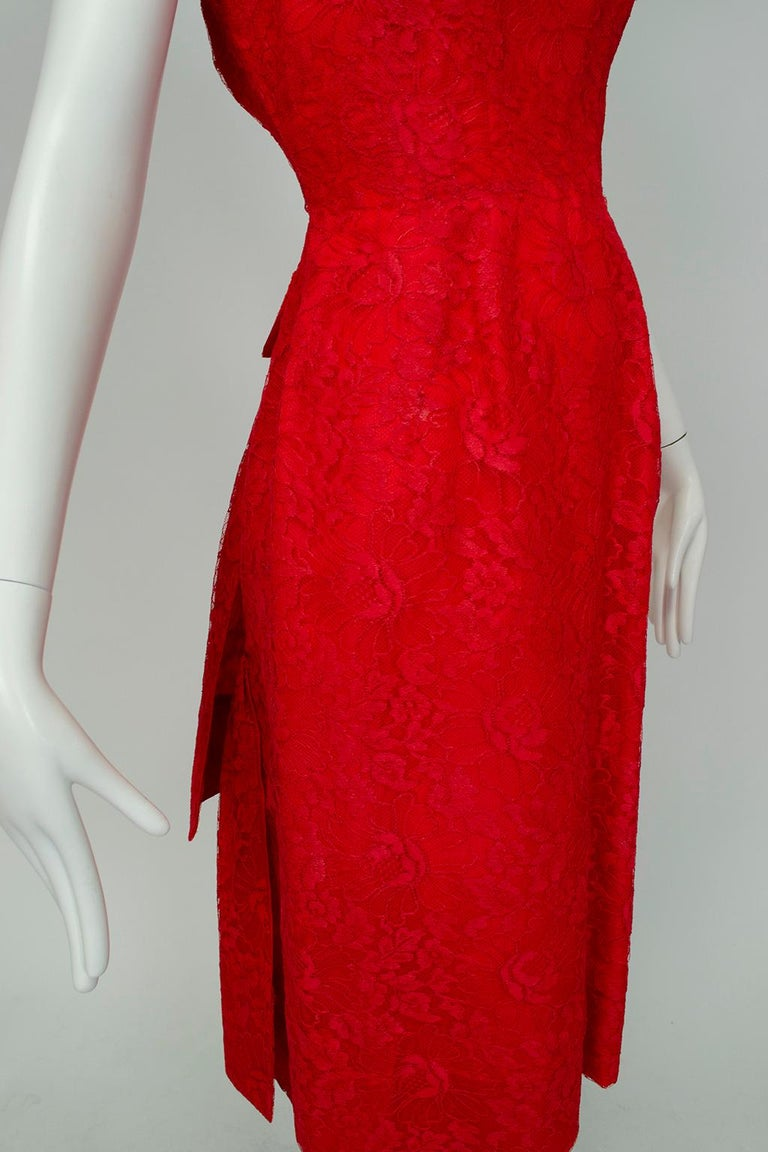 Jacques Cassia Haute Couture Plunge Back Bustle Dress, 1960s For Sale 6