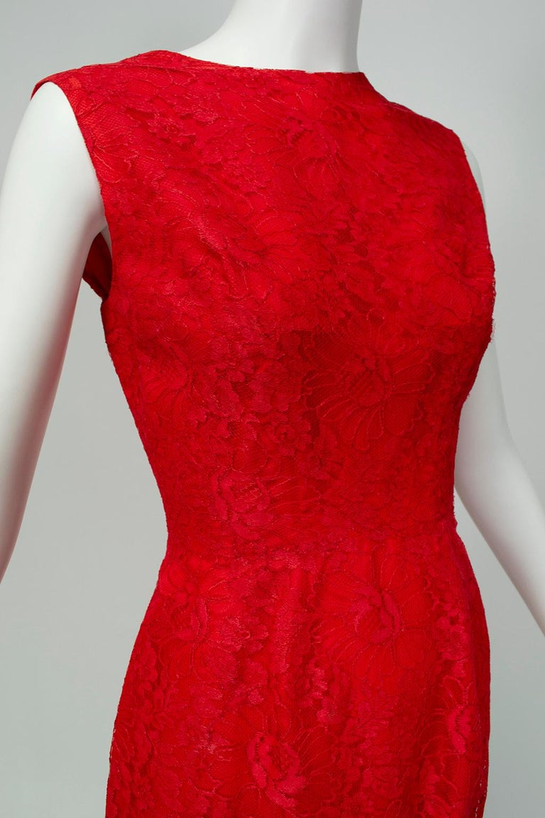 Jacques Cassia Haute Couture Plunge Back Bustle Dress, 1960s For Sale 1