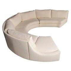 Jacques Charpentier Large C-Shape Sofa, 1970s