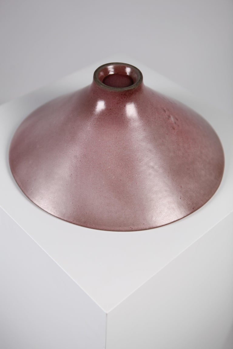 Jacques & Dani Ruelland, Large Lilac Cylindrical Bowl, France, 1960s For Sale 3