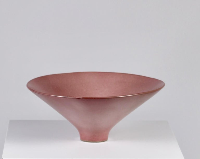Mid-20th Century Jacques & Dani Ruelland, Large Lilac Cylindrical Bowl, France, 1960s For Sale
