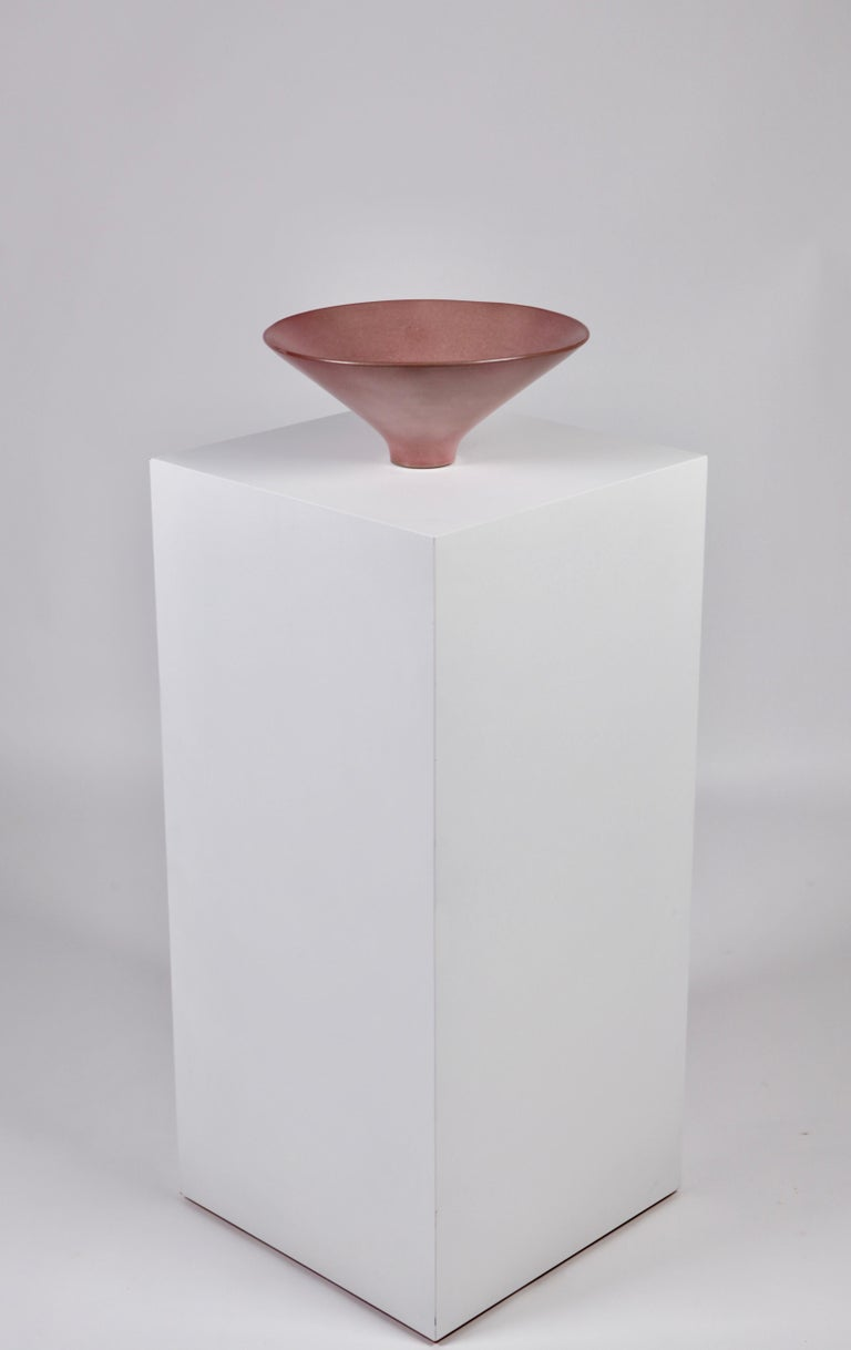 Ceramic Jacques & Dani Ruelland, Large Lilac Cylindrical Bowl, France, 1960s For Sale