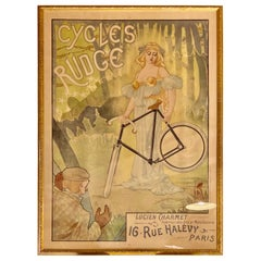 Jacques Debut Cycles Rudge Lucien Charmet Vintage Poster Framed