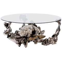 Jacques Duval-Brasseur, Coffee Table, Signed, circa 1970, France