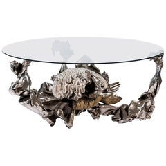 Jacques Duval Brasseur (1931-2021), Coffee Table, Signed, circa 1970, France