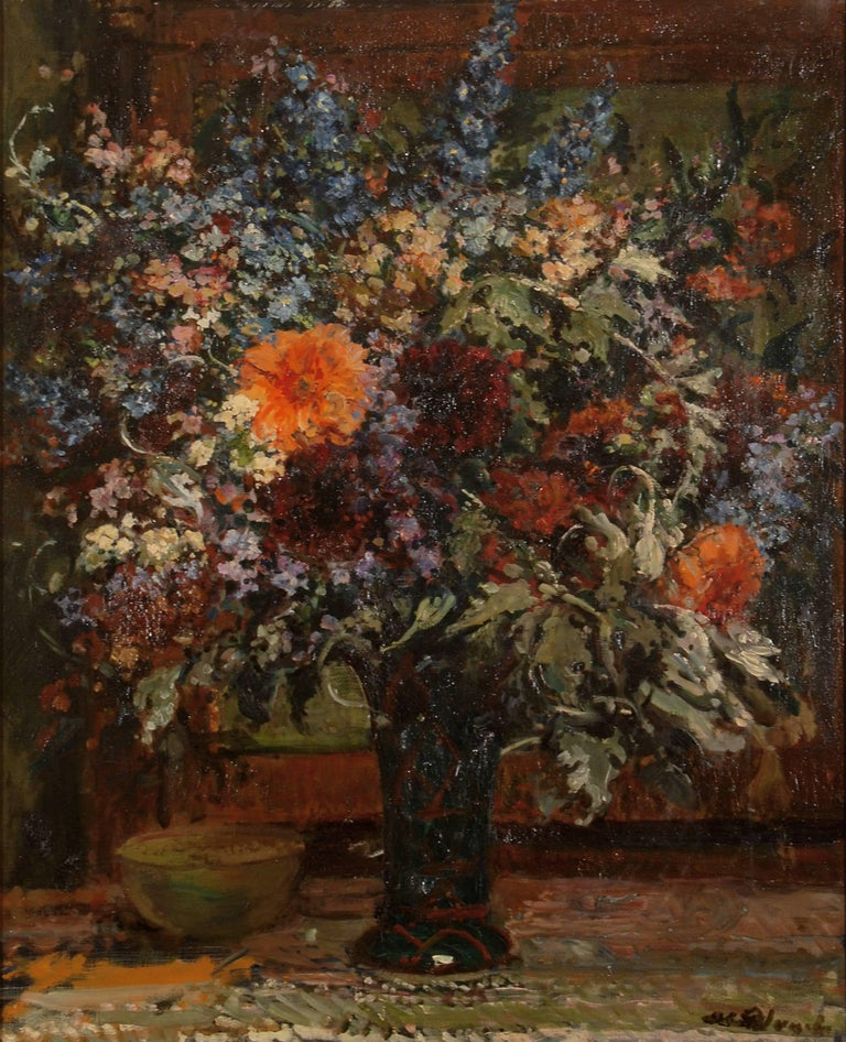 "Jacques Emile Blanche ""Still life"" Early 20th century, Oil Canvas Impressionism"