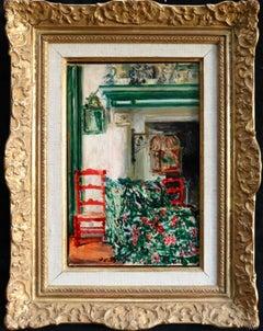 La Salle a Manger a Offranville - 20th Century Oil by Jacques Emile Blanche