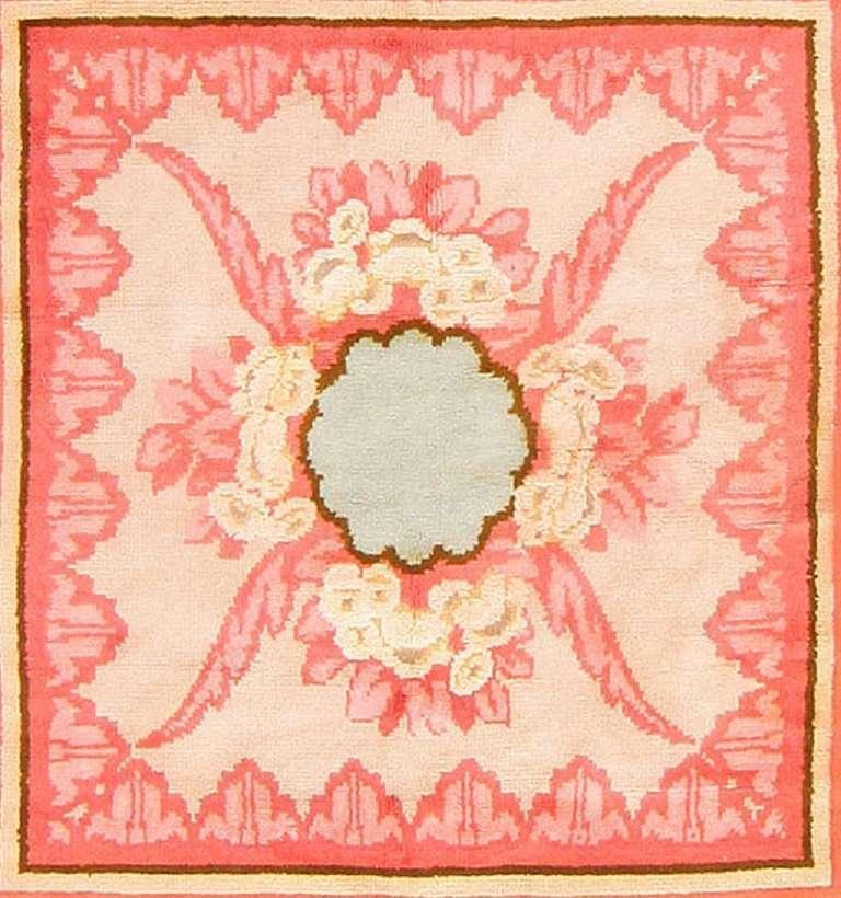 Hand-Woven Jacques Emile Ruhlmann Beautiful French Art Deco Rug.  For Sale