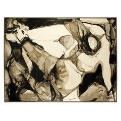 """Jacques Fabert """"Decouverte"""" Painting, 1962"""