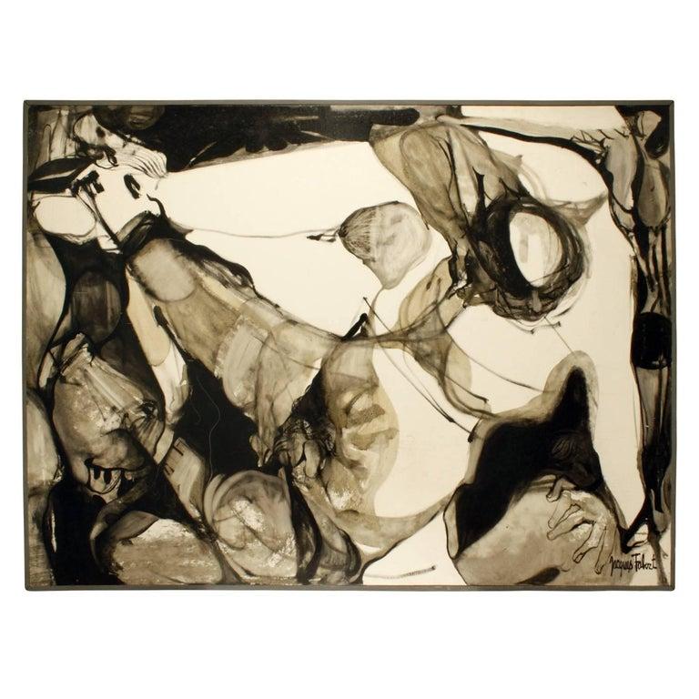 """Jacques Fabert """"Decouverte"""" Painting, 1962 For Sale"""
