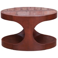Jacques Garcia for Baker Furniture Modern Mahogany Oval Side Table
