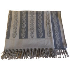 Jacques Gracia Throw by Baker Color Brown and Black Stripe Pattern