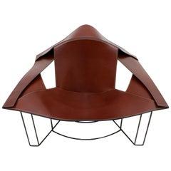 Jacques Harold Pollard Modern Italian Leather Lounge Chair for Matteo Grassi