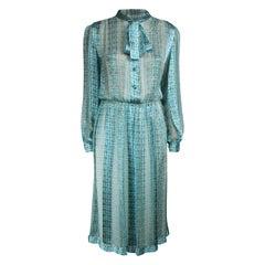 Jacques Heim delicate blue silk chiffon dress, circa 1960s