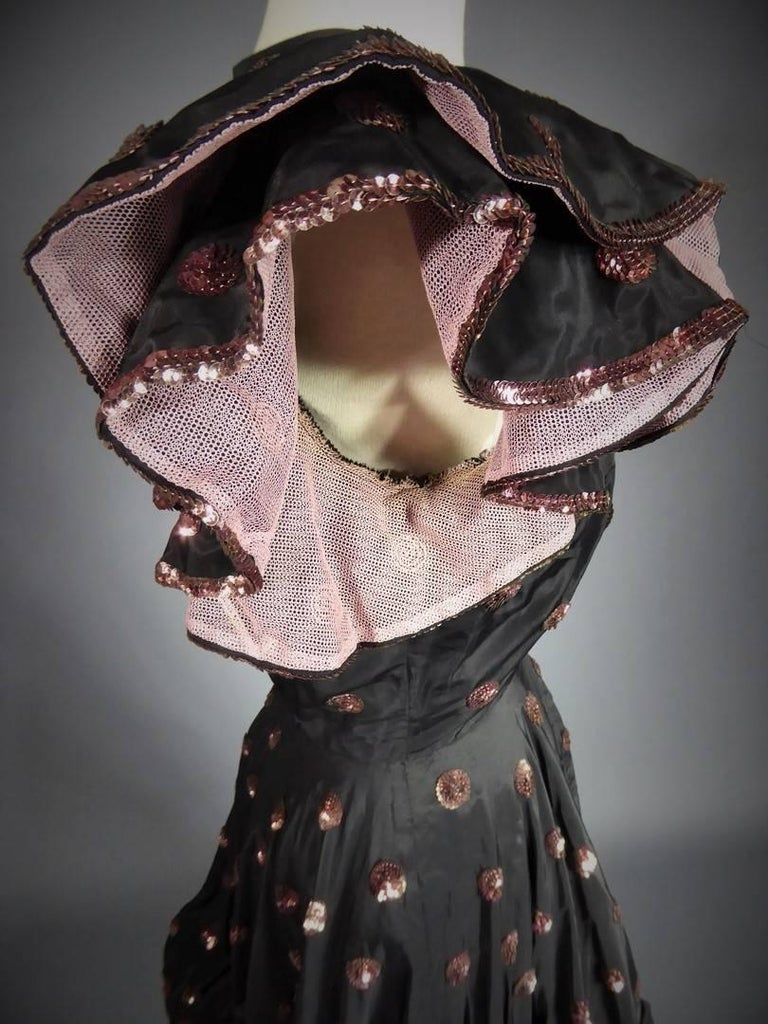 A French Jacques Heim Haute Couture Dress numbered 15365 Circa 1950 For Sale 7