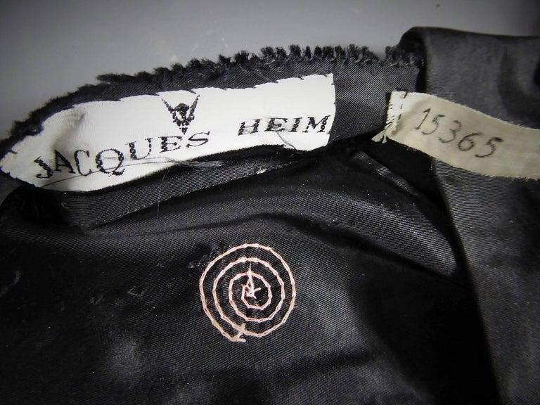 A French Jacques Heim Haute Couture Dress numbered 15365 Circa 1950 For Sale 2