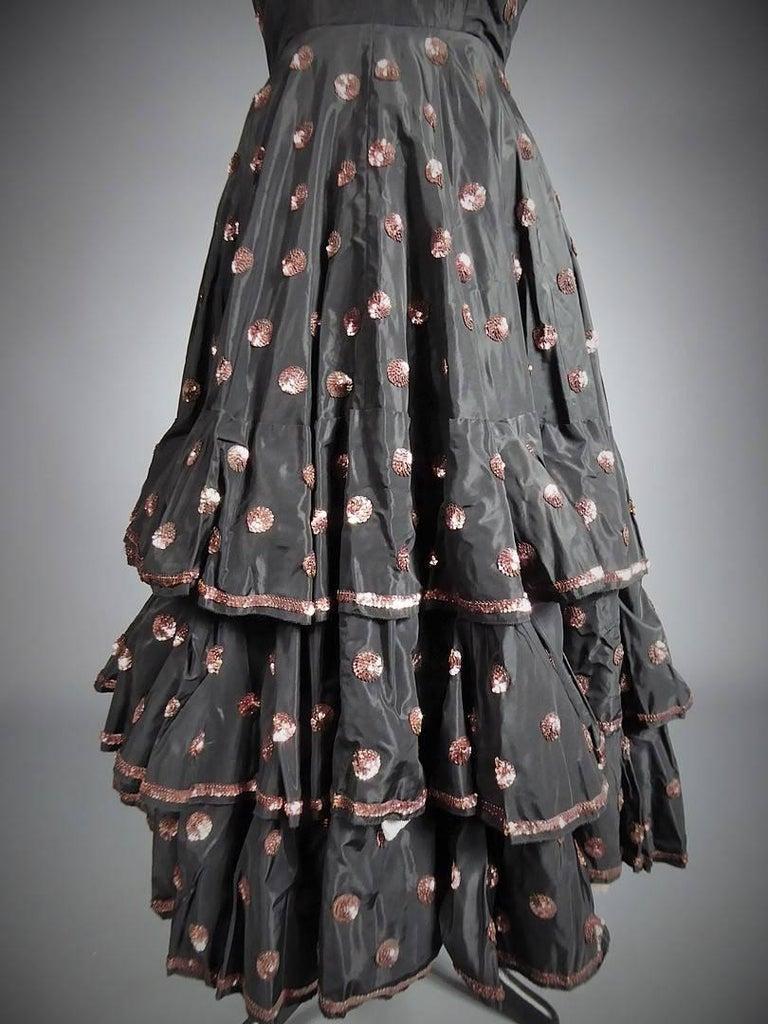 A French Jacques Heim Haute Couture Dress numbered 15365 Circa 1950 For Sale 4