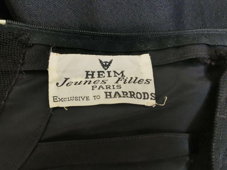 Jacques Heim Silk Gazar Dress Numbered Exclusive to Harrods For Sale 9