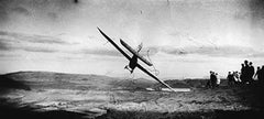 """Gliding Competition: Pilot in the """"Levasseur- Abrial Monoplane"""", Combegrasse"""