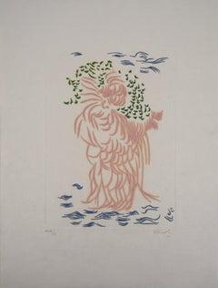 Mother Nature - Original color Etching and Aquatint